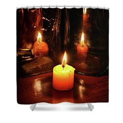 The Flame Shower Curtain by Stephan Grixti