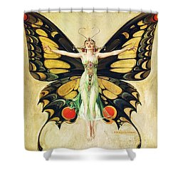 The Flapper Shower Curtain by Pg Reproductions
