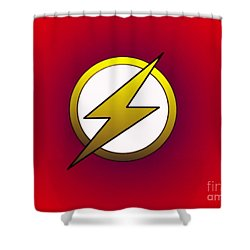 The Flash  Shower Curtain by Justin Moore