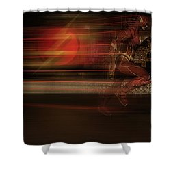 Shower Curtain featuring the digital art The Flash  by Louis Ferreira