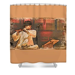 The Flautist Shower Curtain