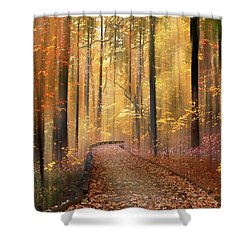 Shower Curtain featuring the photograph The Flickering Forest by Jessica Jenney