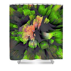 The Flower Factory 2 Shower Curtain by Moustafa Al Hatter