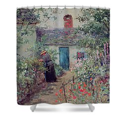 The Flower Garden Shower Curtain by Abbott Fuller Graves