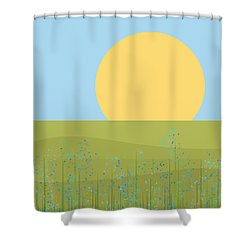 The Flowers After The Rain Shower Curtain