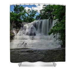 The Flowing Falls Shower Curtain