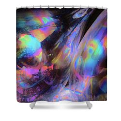 The Fluidity Of Time And Space Shower Curtain