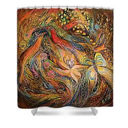 The Fluids Of Love Shower Curtain by Elena Kotliarker