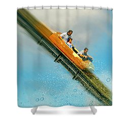 Shower Curtain featuring the photograph The Flume by Diana Angstadt