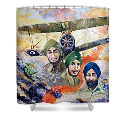 The Flying Sikhs Shower Curtain