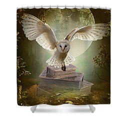 The Flying Wise Shower Curtain