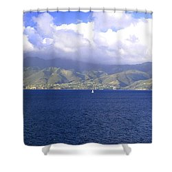 The Fog Lifts Shower Curtain
