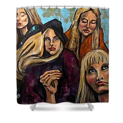 The Folk Singer Shower Curtain