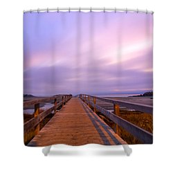 The Footbridge Good Harbor Beach Shower Curtain