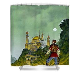 The Forbidden Palace Shower Curtain by Richard Hescox