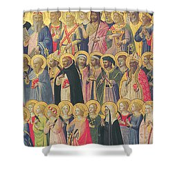 The Forerunners Of Christ With Saints And Martyrs Shower Curtain by Fra Angelico