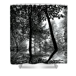 Shower Curtain featuring the photograph The Forest by Elfriede Fulda