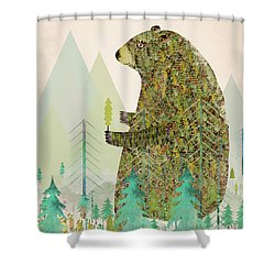The Forest Keeper Shower Curtain