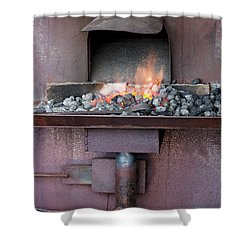 Shower Curtain featuring the photograph The Forge by Linda Lees