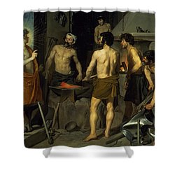The Forge Of Vulcan Shower Curtain by Diego Velazquez