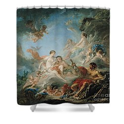 The Forge Of Vulcan Shower Curtain by Francois Boucher