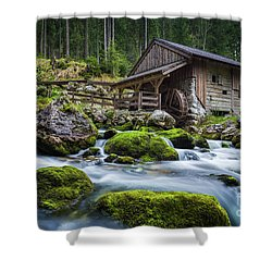 The Forgotten Mill Shower Curtain by JR Photography
