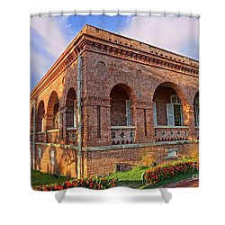 Shower Curtain featuring the photograph The Former British Consulate In Kaohsiung In Taiwan by Yali Shi