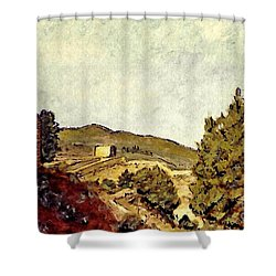The Fort In Lorca Shower Curtain by Sarah Loft
