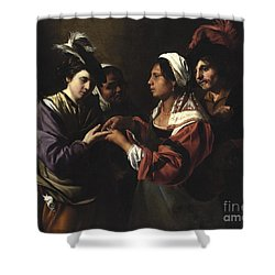 The Fortune Teller Shower Curtain by Bartolomeo Manfredi
