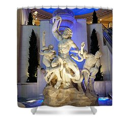 The Forum Shop Statues At Ceasars Palace Shower Curtain