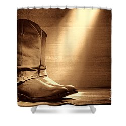 The Found Boots Shower Curtain