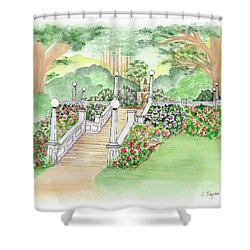 The Fountain Shower Curtain