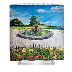 Gushing Fountain Shower Curtain
