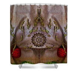 The Fountain Of Life Shower Curtain by Pepita Selles