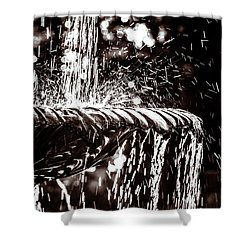 Shower Curtain featuring the photograph The Fountain by Wade Brooks