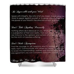 The Four Agreements 3 Shower Curtain by Andrea Anderegg