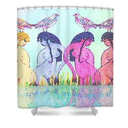 The Four Daughters Of Eve  -aka-  Four Rivers Shower Curtain