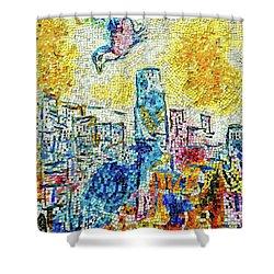 The Four Seasons Chicago Portrait Shower Curtain