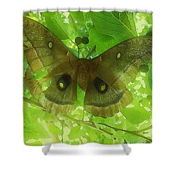Shower Curtain featuring the digital art The Fourth Day-a Dying Giant.. by Shelli Fitzpatrick