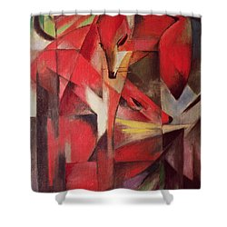 The Fox Shower Curtain by Franz Marc