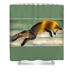 The Fox Hop Shower Curtain