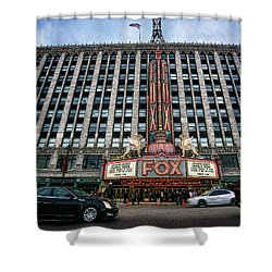 The Fox Theatre In Detroit Welcomes Charlie Sheen Shower Curtain by Gordon Dean II
