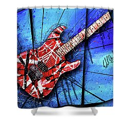 The Frankenstrat Vii Cropped Shower Curtain by Gary Bodnar