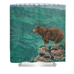 The Franklin Grizzly Bear Shower Curtain