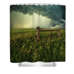 Shower Curtain featuring the photograph The Frayed Ends Of Sanity  by Aaron J Groen