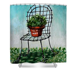 The French Garden Cafe Chair Shower Curtain