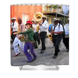 The French Quarter Shuffle Shower Curtain