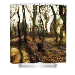 The Frightening Forest Shower Curtain by Gun Legler