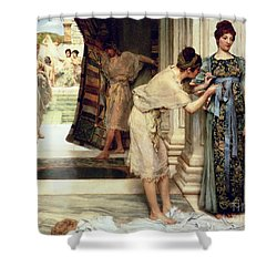 The Frigidarium Shower Curtain by Sir Lawrence Alma-Tadema