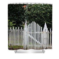 The Front Gate Shower Curtain by Lynn Jordan